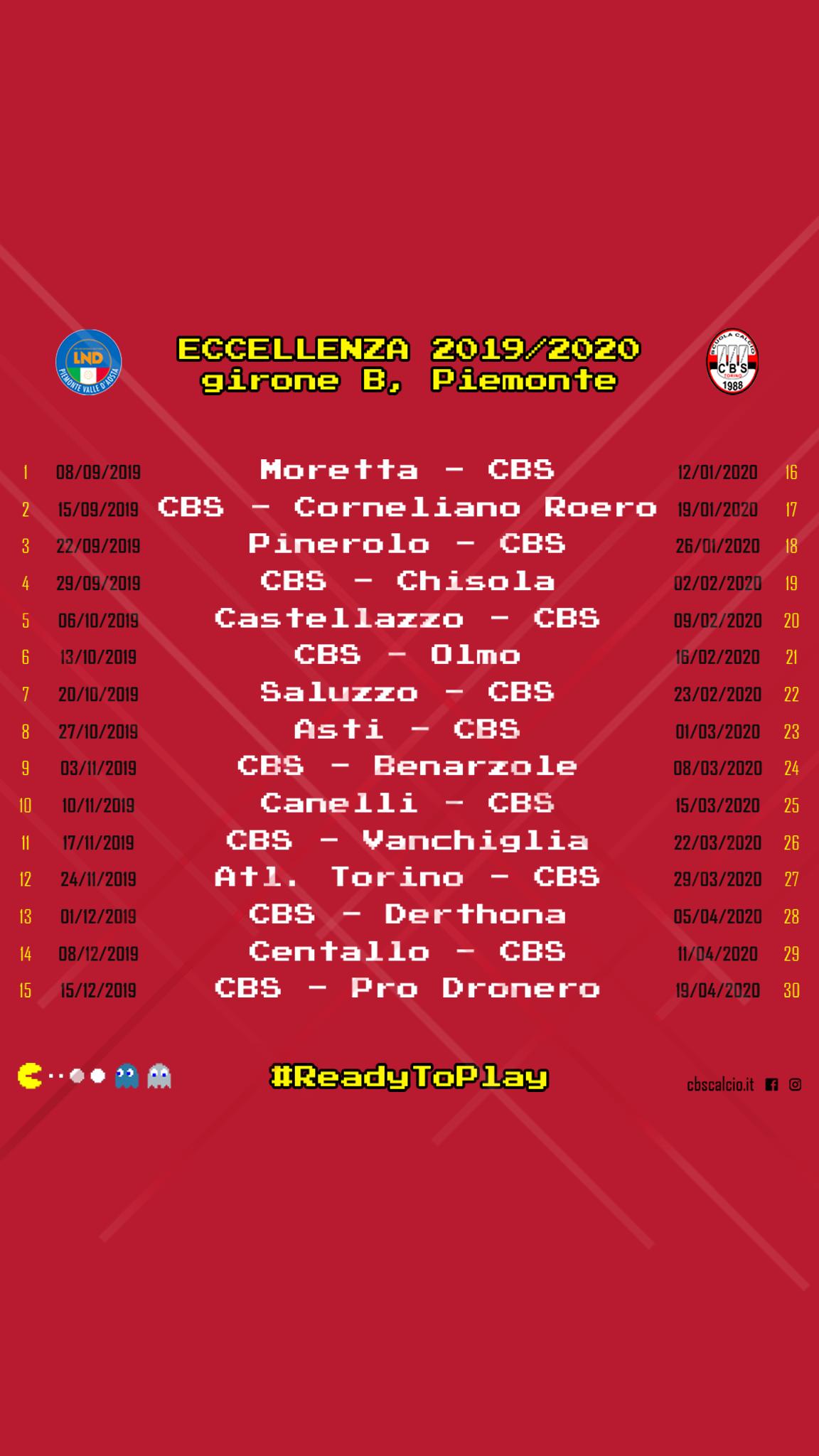 Calendario Esordienti 2020.Eccellenza Esordio In Trasferta A Moretta Cbs Scuola Calcio